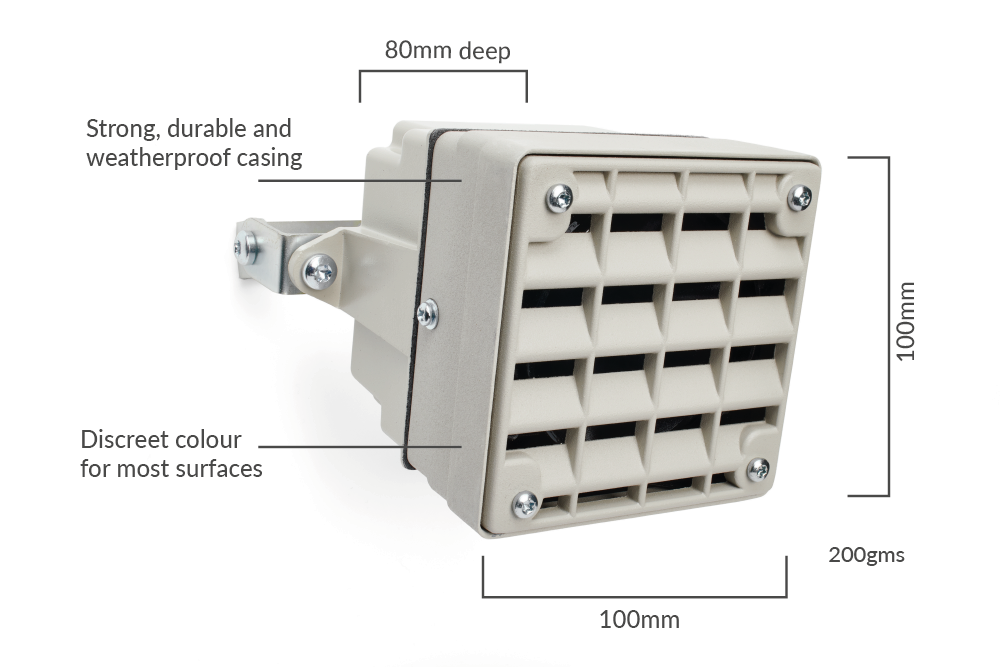 Technical Specifications of the mosquito anti loitering alarm